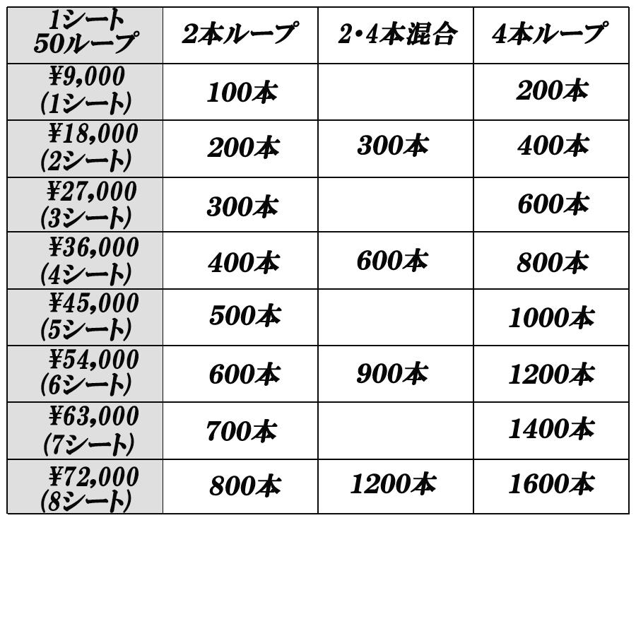 東京都板橋区赤塚のヘアーサロンエイジの増毛技術料金表